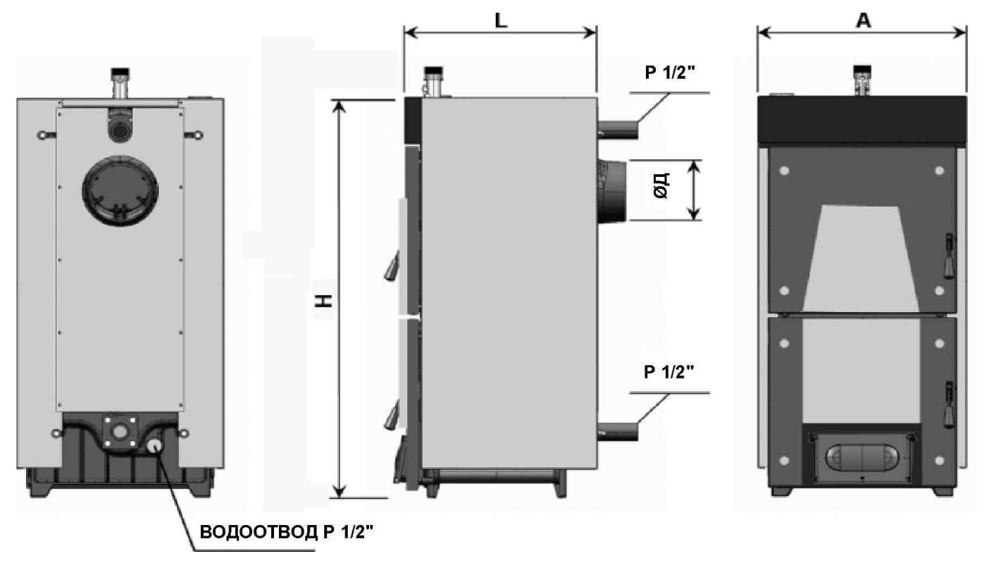Схема твердотопливного котла Demrad Solitech Qvadra SolidMaster