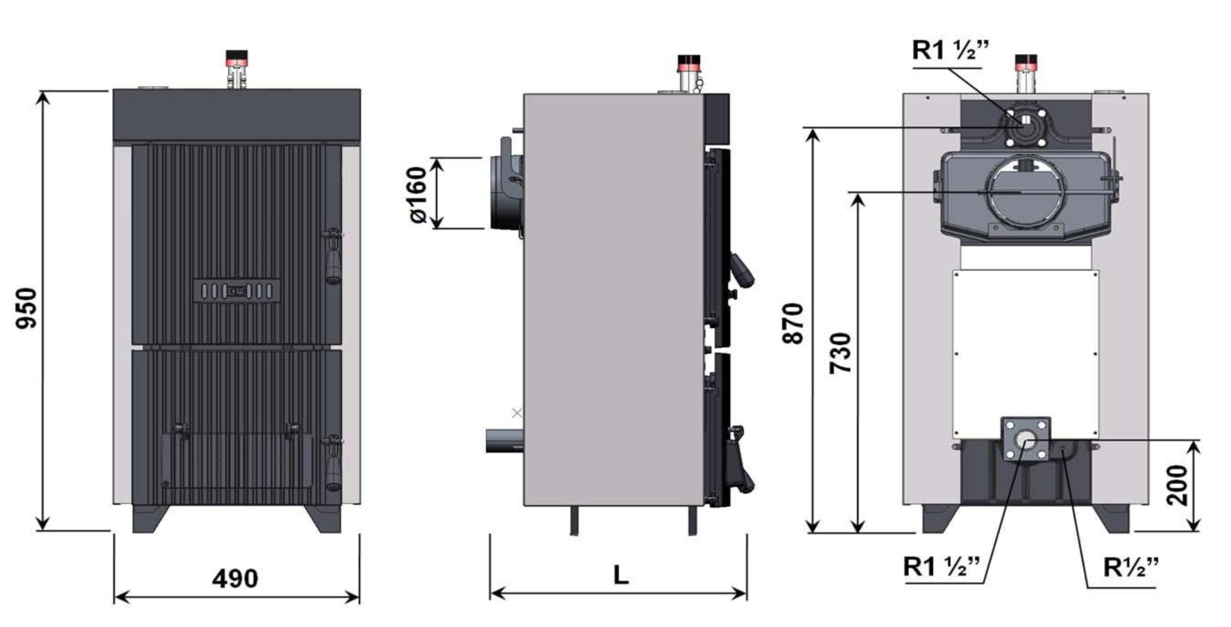 Схема твердотопливного котла Demrad Solitech Qvadra Solid