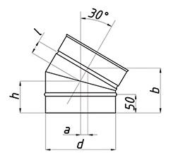 Схема отвода 30°
