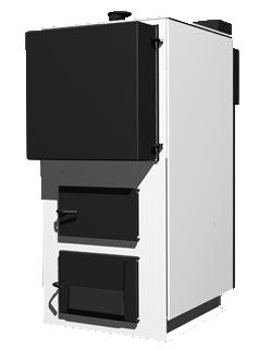 Твердотопливный котел со стальным теплообменником РОСС КОТВ-100-С-1