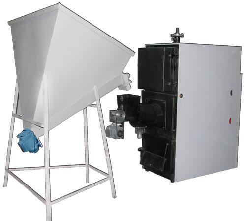 Стальной твердотопливный котел с автоматической загрузкой топлива КОТВ-200-С-1 РОСС