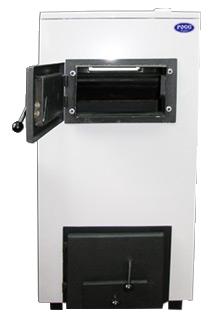 Твердотопливный котел со стальным теплообменником РОСС КОТВ-15-С-В