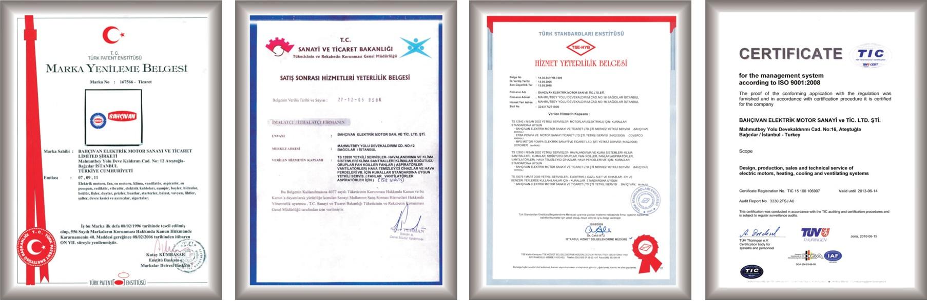 сертификаты качества Бахчиван