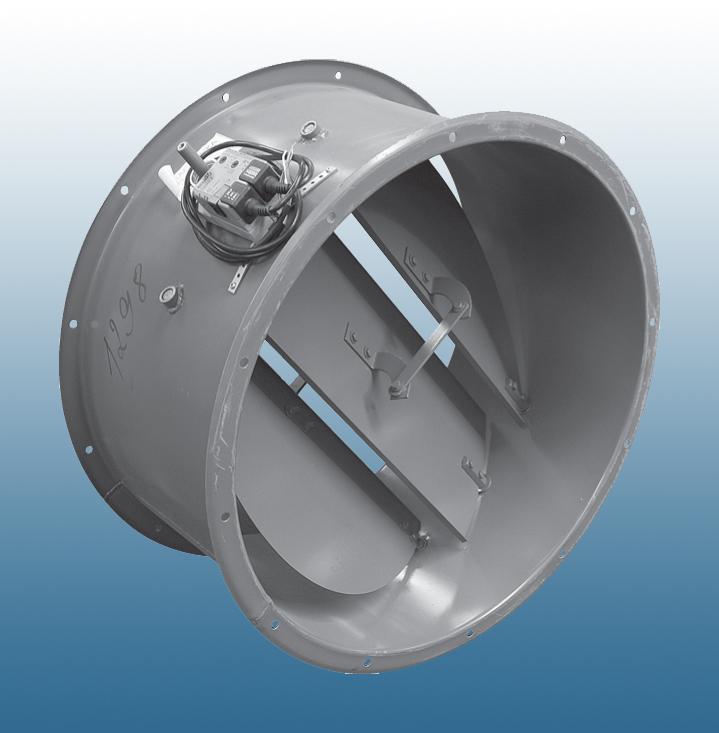 Клапан обратный поворотный, L=550