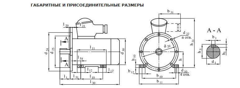 Взрывозащищенный электродвигатель АИММ100L4? АИММ 100L4