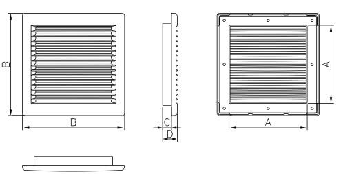 размеры вентиляционной решетки DL/RW