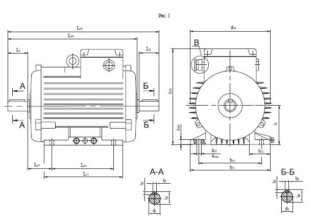 Рольганговый электродвигатель 4АР200М16